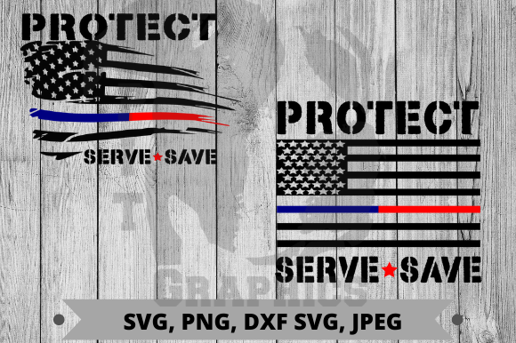 Protect Serve Save Graphic Crafts By Pit Graphics
