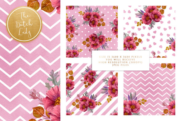 Purple Floral Geometric Backgrounds Graphic Download
