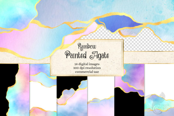 Print on Demand: Rainbow Painted Agate Graphic Textures By Digital Curio