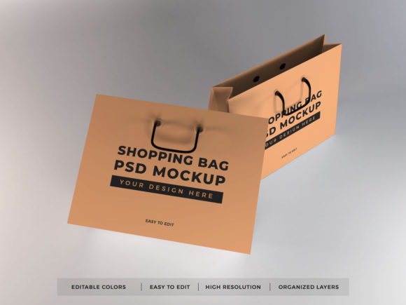Print on Demand: Realistic Shopping Bag Mockup Template Graphic Product Mockups By dendysign