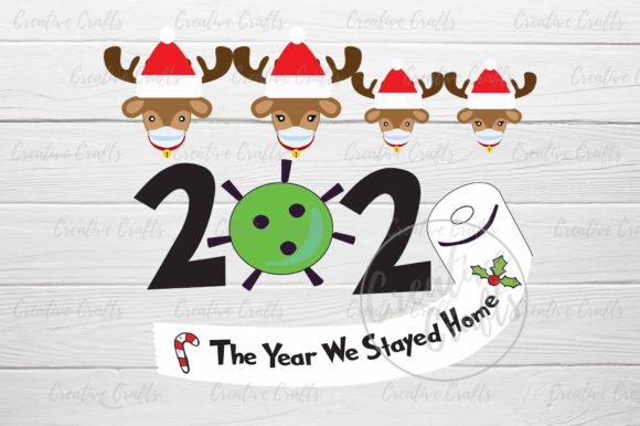Print on Demand: Reindeer Family 2020 Covid Christmas Graphic Crafts By Creative Crafts