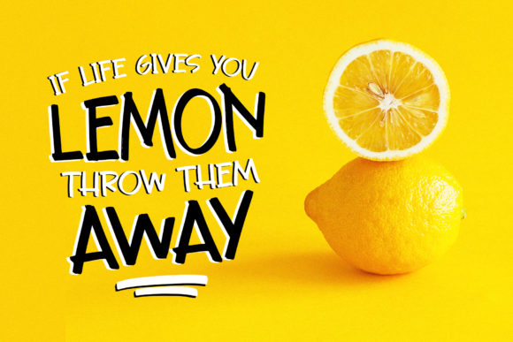Rusty Lemon Font Design