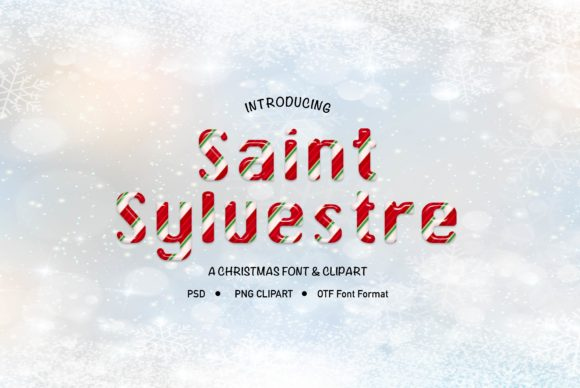 Print on Demand: Saint Sylvestre Decorative Font By LeskaHamatyDesign