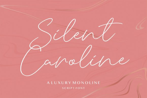 Print on Demand: Silent Caroline Script & Handwritten Font By letterativestudio