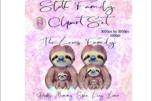 Sloth Family Clipart Set Graphic Illustrations By Marelia Designs