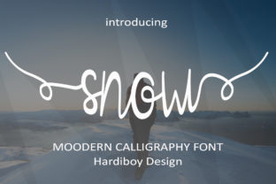 Print on Demand: Snow Script & Handwritten Font By Hardiboy Design
