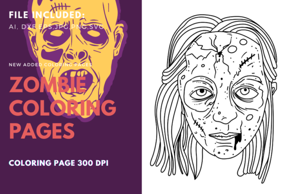 Print on Demand: Spooky Girl Coloring Book Page Graphic Coloring Pages & Books By stanosh
