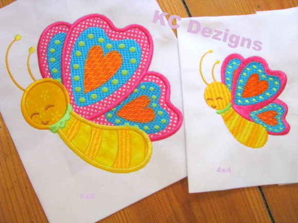 Spring Butterfly Applique Embroidery