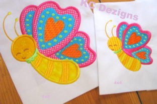 Spring Butterfly Applique Boys & Girls Embroidery Design By karen50