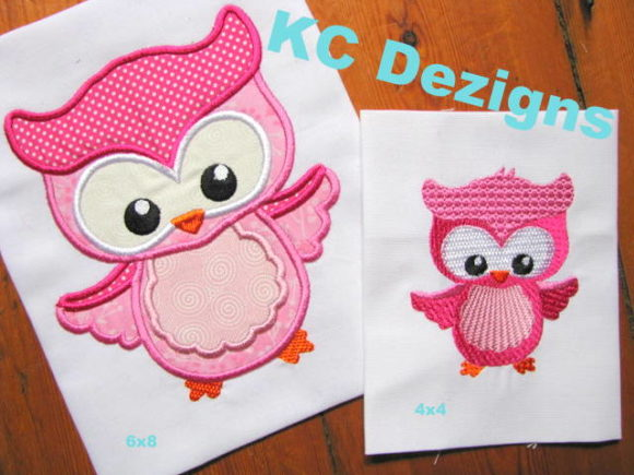 Spring Owl 01 Applique Farm & Country Embroidery Design By karen50