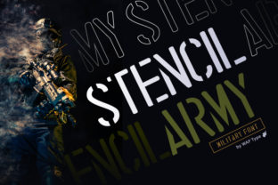 Print on Demand: Stencil Army Display Font By WAP