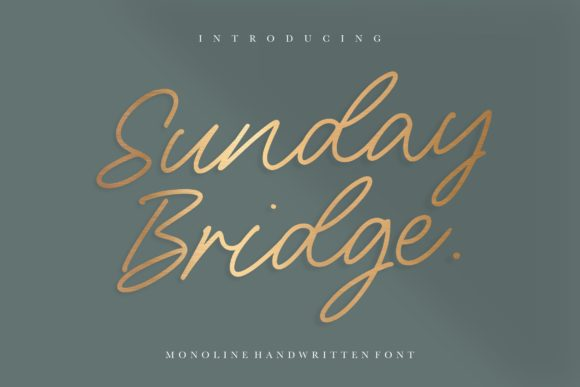Print on Demand: Sunday Bridge Script & Handwritten Font By letterativestudio
