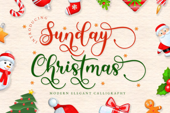 Print on Demand: Sunday Christmas Script & Handwritten Font By airotype