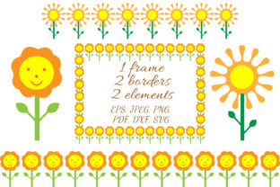 Sunflower Patterns Graphic Illustrations By OK-Design 1