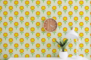 Sunflower Patterns Graphic Illustrations By OK-Design 3