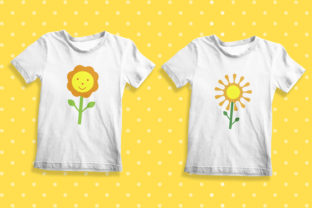 Sunflower Patterns Graphic Illustrations By OK-Design 6