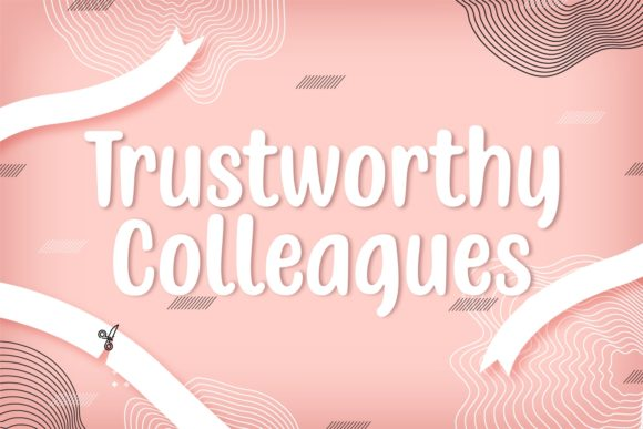 Print on Demand: Trustworthy Colleagues Script & Handwritten Font By Situjuh