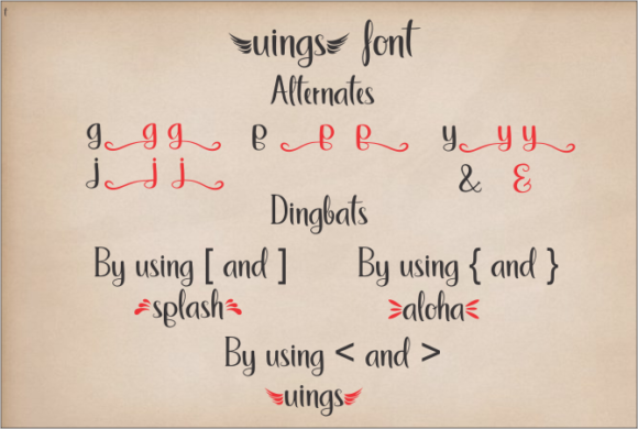Uings Font Design Item