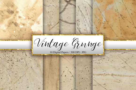 Vintage Grunge Background Digital Papers Graphic Backgrounds By PinkPearly