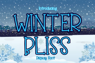 Print on Demand: Winter Bliss Display Font By boogaletter