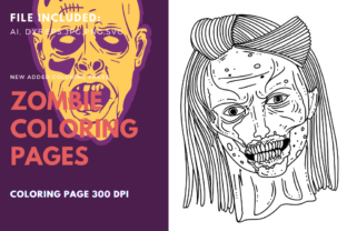 Print on Demand: Zombie Mother Coloring Page Graphic Graphic Templates By stanosh