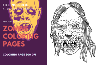 Print on Demand: Zombie Rotten Face Coloring Page Graphic Graphic Templates By stanosh