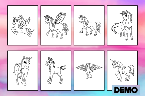 - Cute Unicorn Coloring Pages For Kids (Graphic) By MK DESIGN · Creative  Fabrica