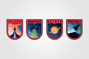 Space Mission Patches Logo Vector Sets Graphic Logos By lawoel