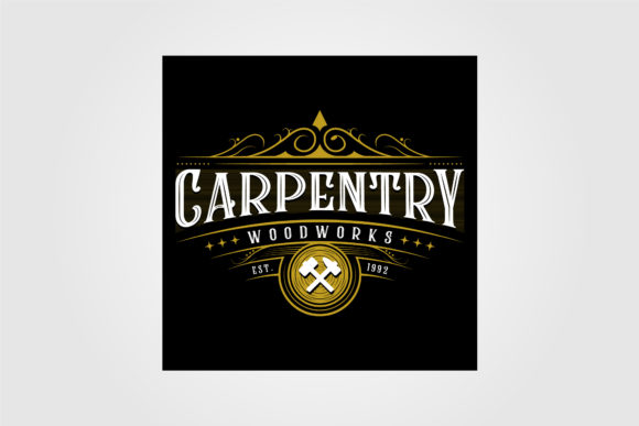 Vintage Carpentry Woodwork Premium Logo Graphic Logos By lawoel