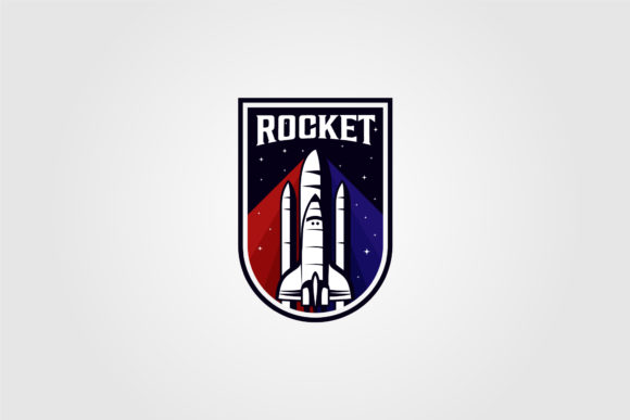 Vintage Rocket Space Shuttle Logo Vector Graphic Logos By lawoel