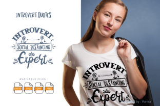 Print on Demand: 10 Introvert Bundle   Lettering Quotes Graphic Crafts By Vunira 7