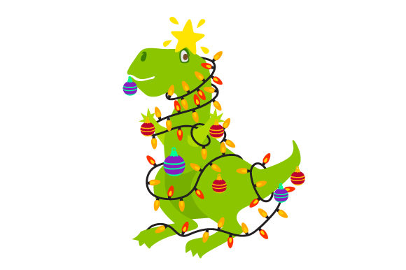 Christmas T Rex Cut File