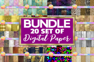 20 Digital Papers Bundle Graphic Backgrounds By paperart.bymc