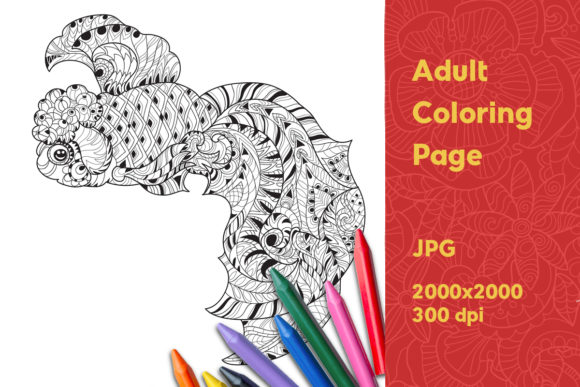 Print on Demand: Adult Coloring Page Graphic Graphic Coloring Pages & Books Adults By YAZZIK