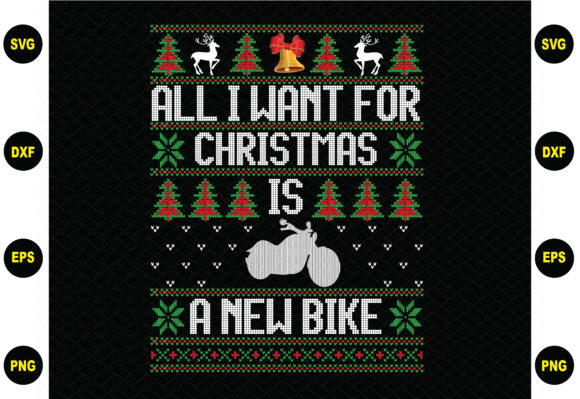 All I Want for Christmas is a New Bike Graphic Graphic Templates By BDB_Graphics