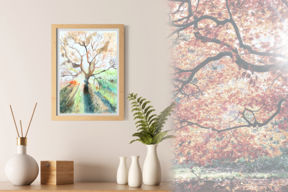 Autumn Light - Watercolor Print & Clip a Graphic Illustrations By tatibordiu
