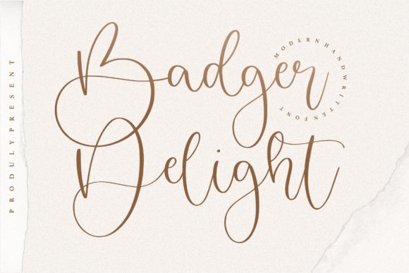 Print on Demand: Badger Delight Script & Handwritten Font By letterativestudio