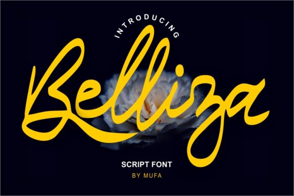 Print on Demand: Belliza Script & Handwritten Font By MufaArtsDesigns
