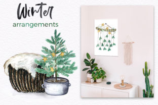 Boho Winter Christmas Watercolors Graphic Illustrations By LABFcreations 3
