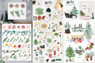 Boho Winter Christmas Watercolors Graphic Illustrations By LABFcreations 5
