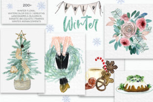 Boho Winter Christmas Watercolors Graphic Illustrations By LABFcreations 7