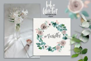 Boho Winter Christmas Watercolors Graphic Illustrations By LABFcreations 9