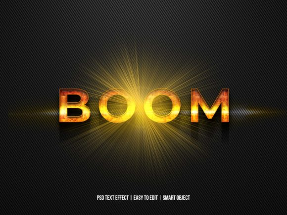 Print on Demand: Boom Explotion Text Effect with Flare Grafik Layer-Stile von Dxsign