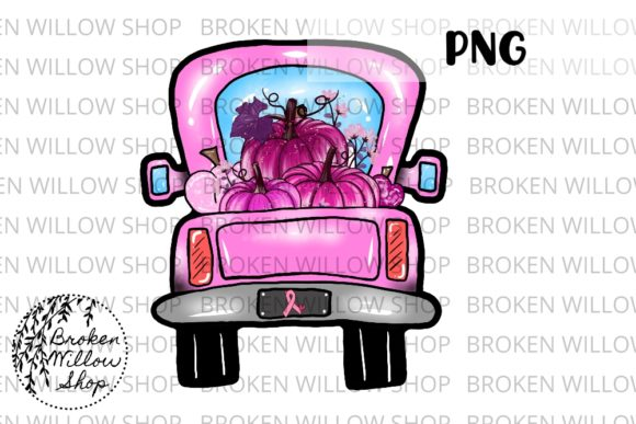 Print on Demand: Breast Cancer Awareness Truck Sublimatio Graphic Crafts By Broken Willow Shop