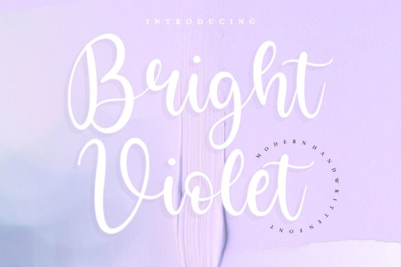 Print on Demand: Bright Violet Script & Handwritten Font By letterativestudio