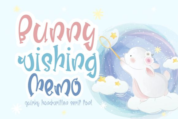Print on Demand: Bunny Wishing Memo Display Font By AllaCreativa