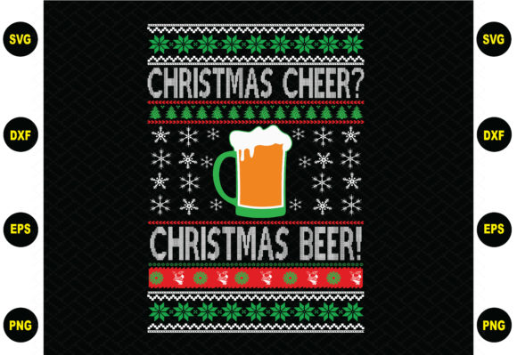 Print on Demand: Christmas Cheer Christmas Beer Graphic Graphic Templates By BDB_Graphics