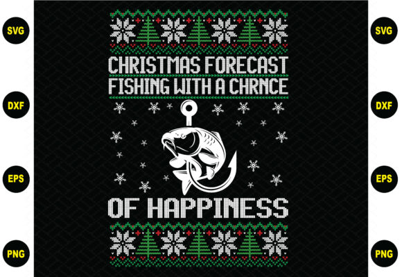 Christmas Forecast Fishing Sweater Graphic Graphic Templates By BDB_Graphics