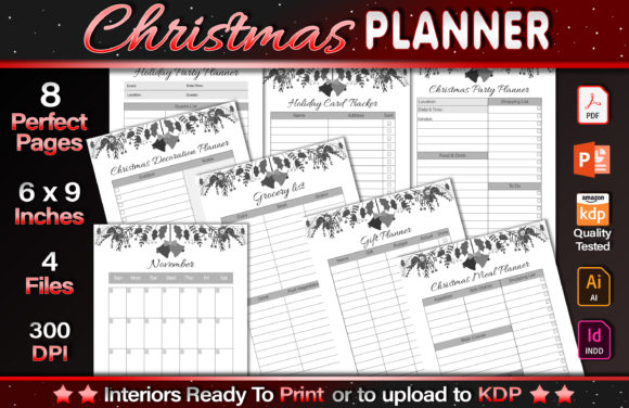 Christmas Planner Graphic KDP Interiors By okdecoconcept
