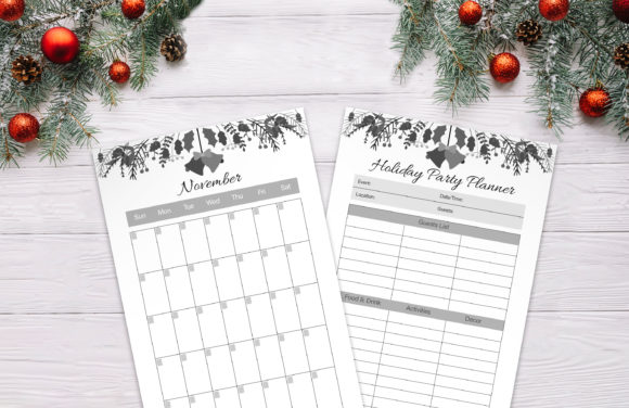 Christmas Planner Graphic Download
